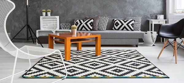 Tolle Teppiche die Innenräume verschönern teppiche Tolle Teppiche die Innenräume verschönern skandinavischer wohnstil teppich geometrisch 600x270