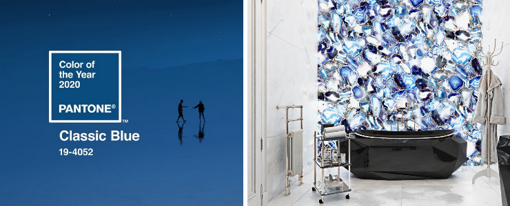 3 Badezimmerdesigns: Pantone-Farbe des Jahres 2020 Zuhause Capa
